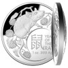 Year of the Rat 1 Oz Silver - Proof - Dome shaped Coin $5 Australia 2020