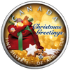 CHRISTMAS GREETINGS Maple Leaf 1 oz Silver Coin Canada 2019