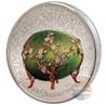 FABERGE EGG Peter Carl 100th Ann. 2 Oz Silver Coin Mongolia 2020