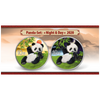 PANDA Day & Night 2 x 30 g Silver Color Coin set China 2020