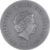 LONG EARED OWL 2 Oz Silver with Gold Gilding Coin $5 Niue 2019