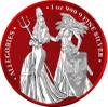 The Allegories 2019 Britannia & Germania 1 oz Silver Space Red