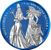 The Allegories 2019 Britannia & Germania 1 oz Silver Space Blue