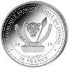 GIRAFFE African Wildlife 1 oz Silver  Coin 2019 Congo