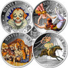 The Circus History - 4 coins set 5C $1 Fiji 2013