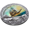 WHYDAH GALLY 2 oz Antique finish Silver Coin 5$ Niue 2019