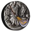 GUAN YU 5 oz Silver Coloured Antiqued Coin Tuvalu 2020