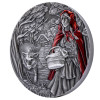 NGC MS70 graded LITTLE RED RIDING HOOD  3 oz Silver Coin Cook Islands 2019