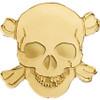 Golden PIRATE SKULL 0.5 g Gold Silk finish Coin Palau