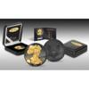 Golden Enigma - 2015 1 oz USA Silver Coin - Walking Liberty - Silver & Ruthenium & Gold Pl.set