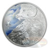 2015 Niue 1 oz Silver $2 Year of the Goat Colorized Coin
