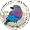 Lilac-breasted Roller 500 Francs Burkina Faso 2013 Silver Proof