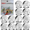ASTERIX & OBELIX 12x 10 Euro Silver Coin set France 2015