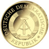 5 Mark 20 Years GDR- full gold plated - colorized 12 original coins