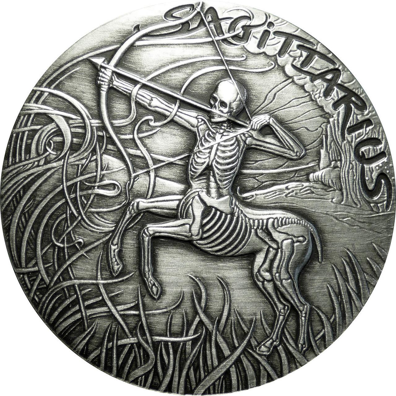 Zodiac Series Sagittarius    1oz .999 copper round