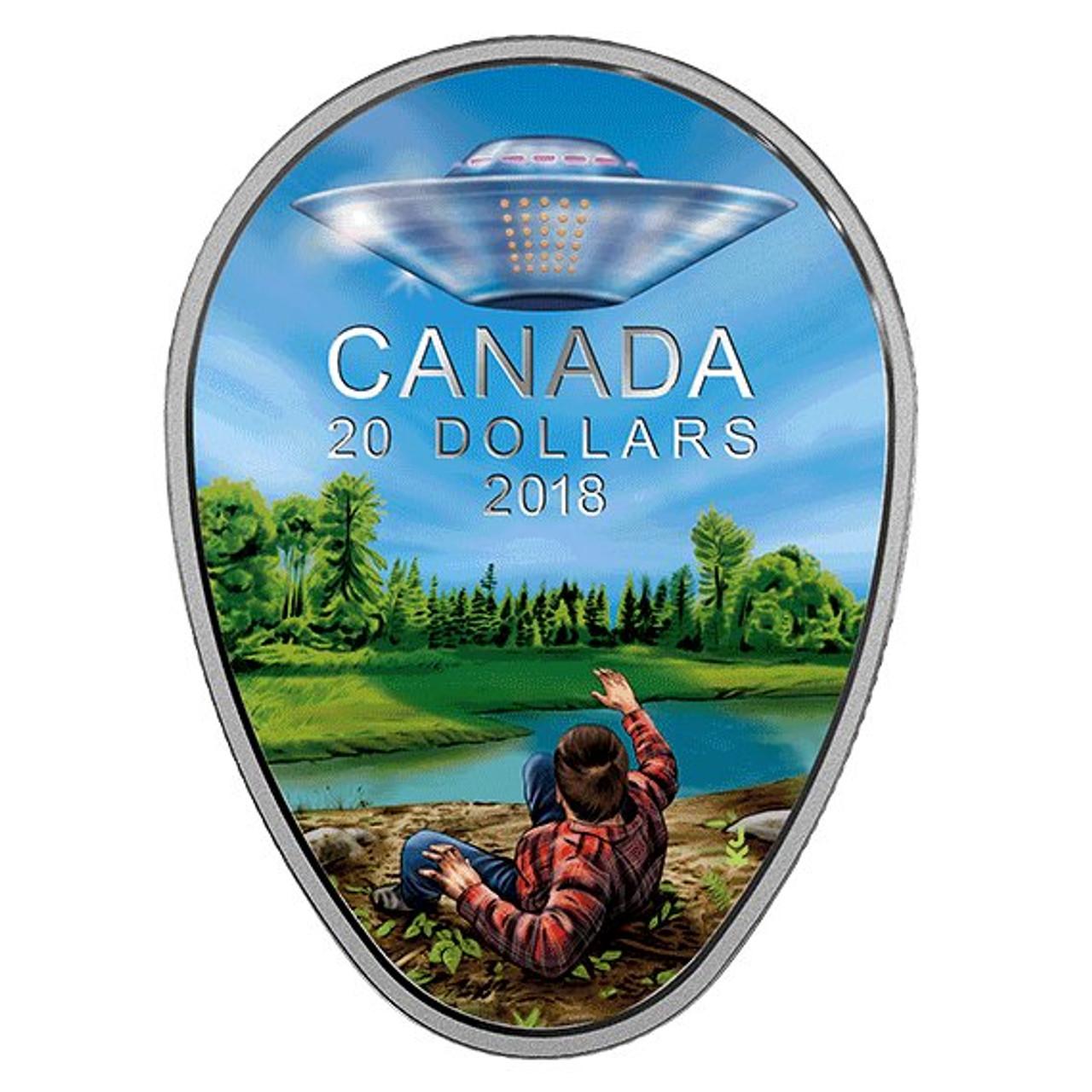 CANADA MAPLE TREE TUNNEL SILVER 20$ 2018