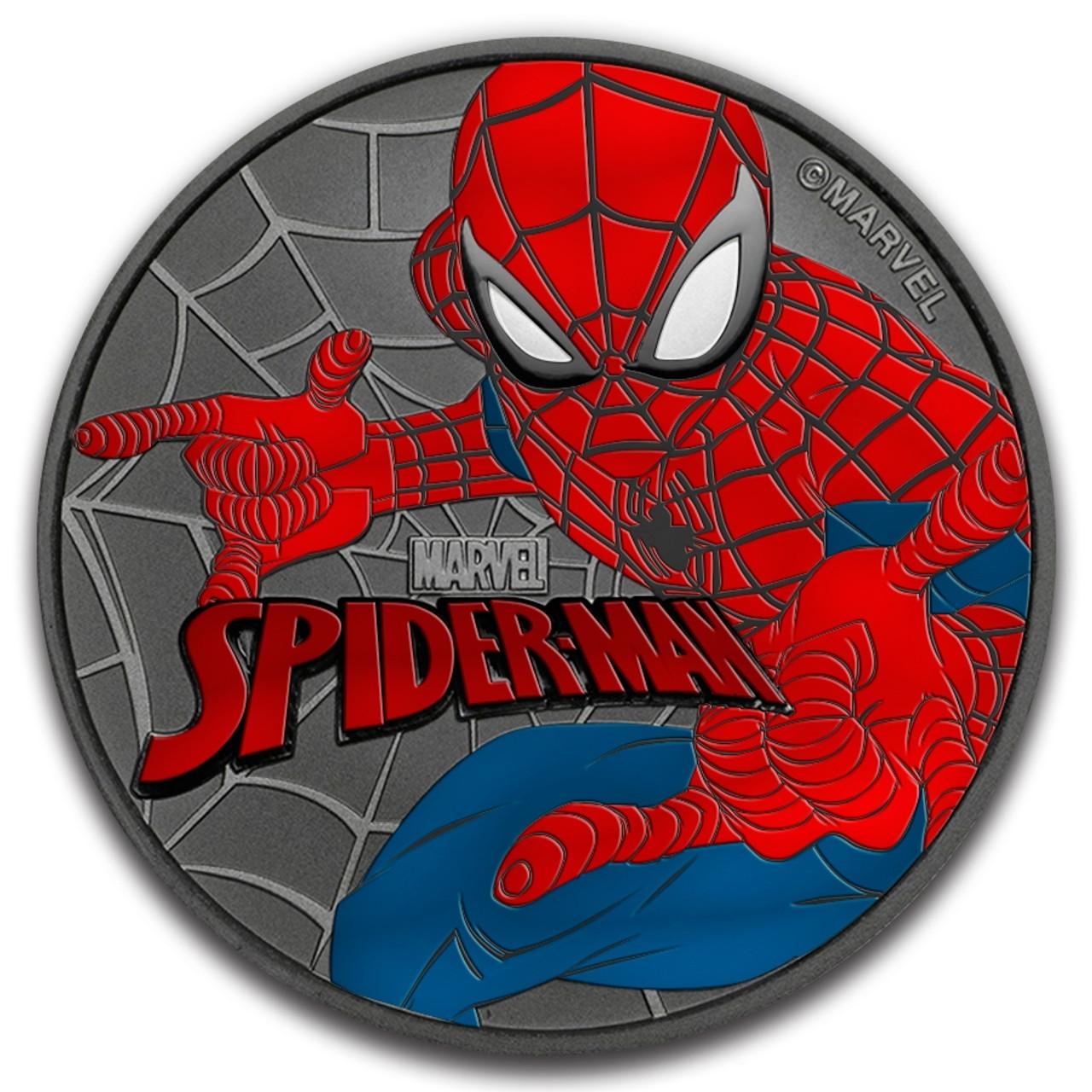 Spider-Man American Silver Eagle 1oz .999 Silver Dollar Spiderman Coin