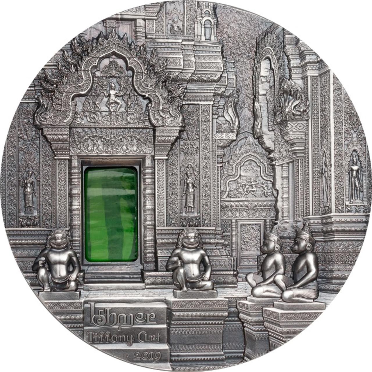 TIFFANY ART Khmer 2 Oz Silver Coin 10$ Palau 2019