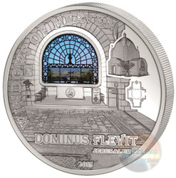 Dominus Flevit JERUSALEM 50 g Proof Silver Coin Cook Islands 2015