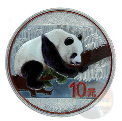 Antique Finish- Color Panda - 30 g Silver 10 Y China 2016