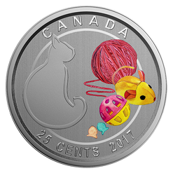 LOVE MY CAT - 25-Cent Coin - RCM Canada 2017