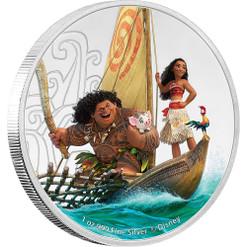 MOANA & MAUI - Disney Series- 2017 Niue 1 oz Silver Coin