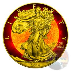 SOLAR FLARE LIBERTY 1 Oz Silver Eagle Coin 1$ USA 2016