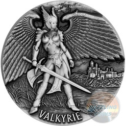 VALKYRIE - CHOOSER OF THE SLAIN - 2016 3 oz Fine Silver Max Relief Coin