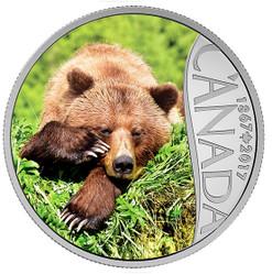 Grizzly Bear - Canada's 150th Coin Series 2017 $10 1 oz Silver Coin
