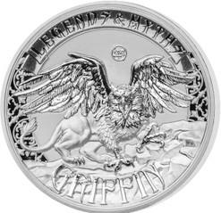 GRIFFIN Legends & Myths 2 Oz Silver Coin 5$ Solomon Islands 2016