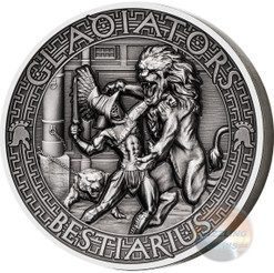 BESTIARIUS Gladiators 2 Oz High Relief Silver Coin