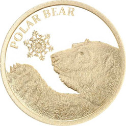 POLAR BEAR  - SNOWFLAKE BEAR 0.5G PURE GOLD COIN TOKELAU 2017