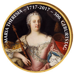MARIA THERESA Colored Coin 2 EURO