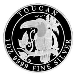 TOUCAN 1 OZ Silver Proof– Coin Niue 2018