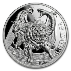 CHIMERA Mythological Animals 2 Oz Silver Coin 1500 Shillings Tanzania 2018