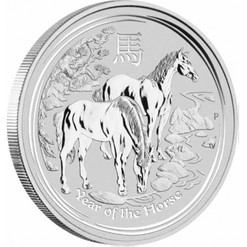 2014 Year of the HORSE 1 oz BU Silver Coin