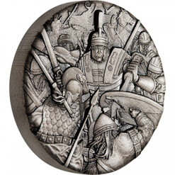 Warfare - Roman Legion 2 oz Silver Antiqued High Relief Coin 2018