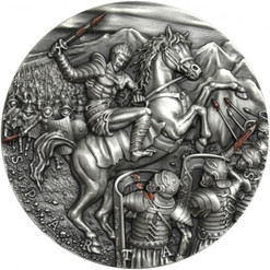 SPARTACUS - GREAT COMMANDERS 2 oz Silver Ultra High Relief Coin 2018