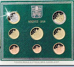 VATICAN - MINT SET EURO 8 COINS - IN BLISTER CARD