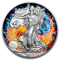 Fire and Water Yin Yang 1 oz American Silver Eagle 2017