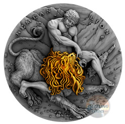 NEMEAN LION Twelve Labours of Hercules 2 Oz Silver Coin 5$ Niue 2018
