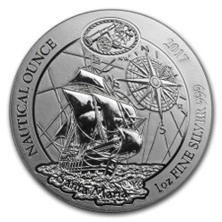 CHRISTOPHER COLUMBUS FLAGSHIP Nautical Ounce Santa Maria 1 oz Silver BU Coin 2017