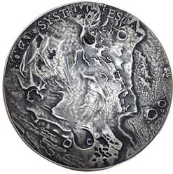VESTA Meteorite Solar System 1 Oz Silver Coin 1$ Niue 2018