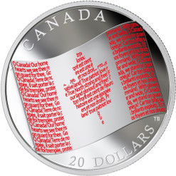 CANADIAN FLAG – 2018 $20 1 OZ FINE SILVER COIN