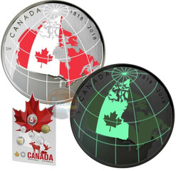 FROM FAR AND WIDE – Coin set with Glow in Dark COIN 2018 Canada