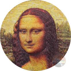 MONA LISA Monna Leonardo Da Vinci 3 Oz Silver Coin 20$ Palau 2018