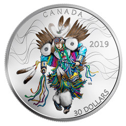 FANCY DANCE – $30 1 OZ Fine Silver Coin Canada 2019