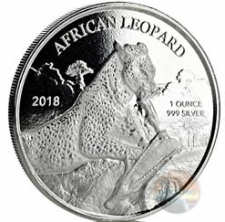 AFRICAN LEOPARD - 1 oz Silver Coin 2018 Republic of Ghana