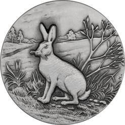 Mountain Hare Ultra High Relief 1 oz Silver Coin 2015 Niue
