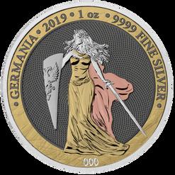 2019 GERMANIA 6 Precious Metals 5 Mark 1 Oz .9999 Silver Round
